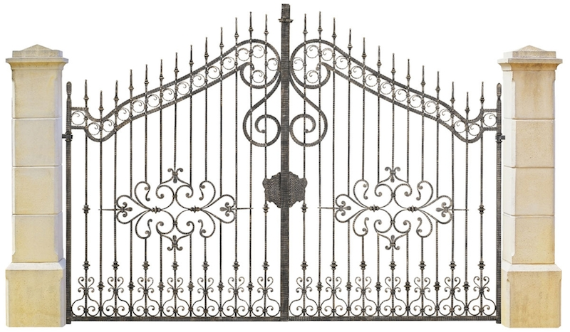 Fabricant portail fer forg villa au maroc rabat casablanca marrakech fabricant for Dessin en fer forge